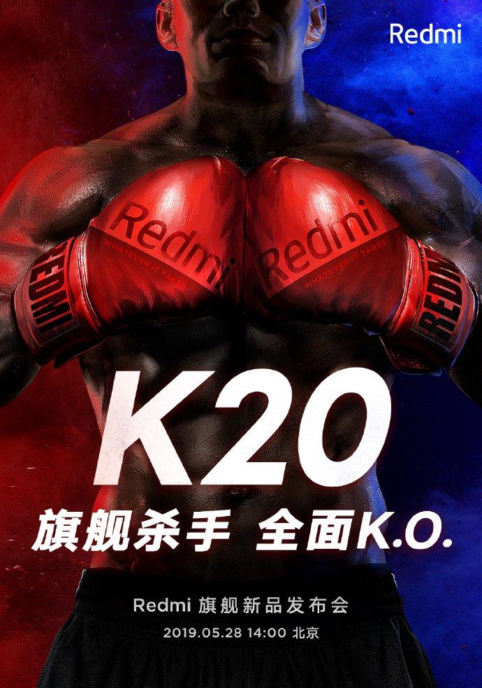 Redmi K20 bude mít premiéru v Pekingu v úterý 28. května ve 14 hodin