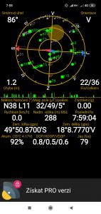 Snímek z GPS Status