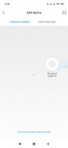 Mi Control Hub nalezen
