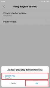 Zvolte Google Pay