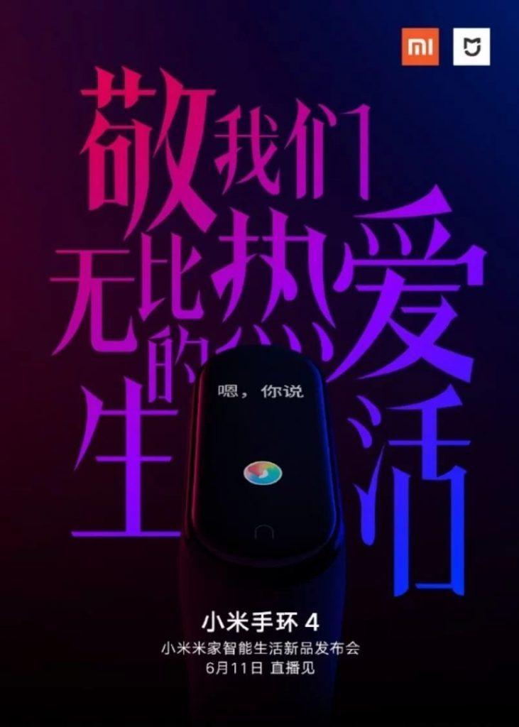 Chytrý náramek Xiaomi Mi Band 4 představí už příští týden