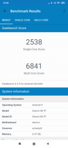 Xiaomi Mi 9T v Geekbench 4