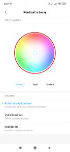 Můžete použít barevný kruh