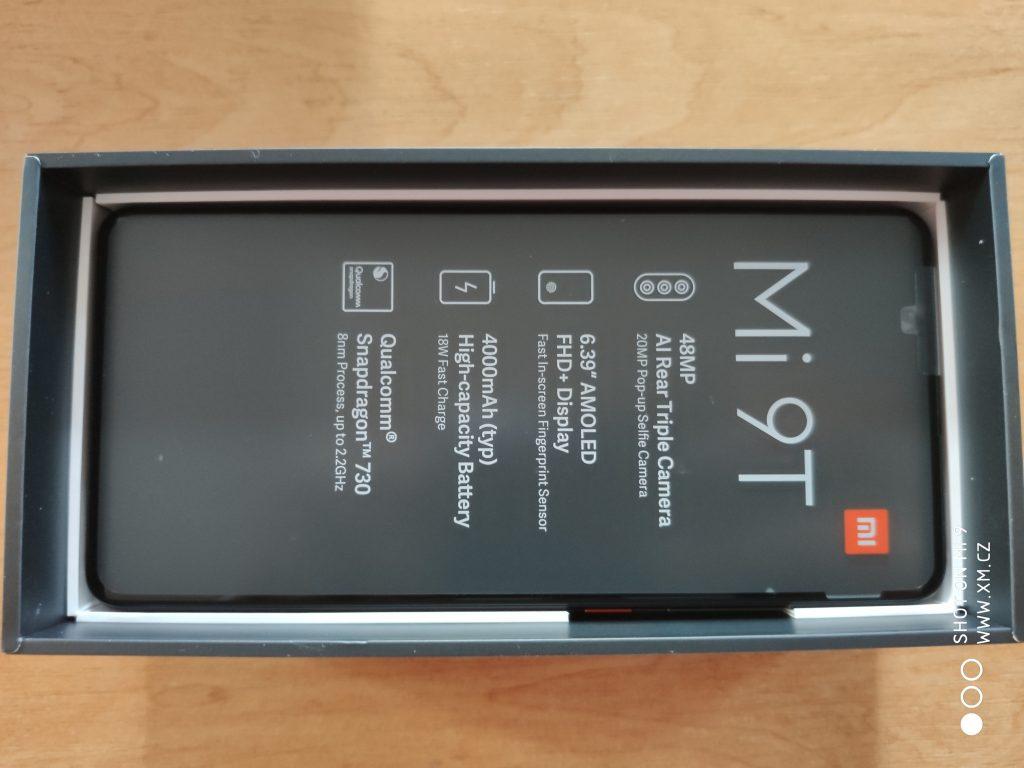 Xiaomi Mi 9T s transportní fólií