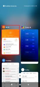 Dlouze podržte prst na kýžené aplikaci