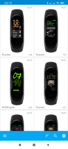 MiBand4 přináší skoro 200 ciferníků