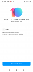Nová aktualizace pro Xiaomi Mi 9