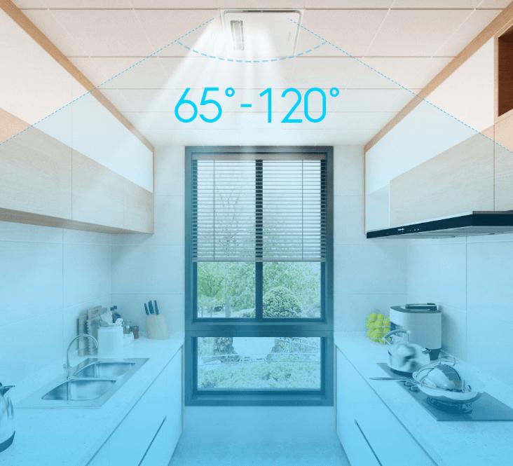 Směr uvolňovaného chlazeného vzduchu lze nastavit v úhlu 65 až 120 stupňů