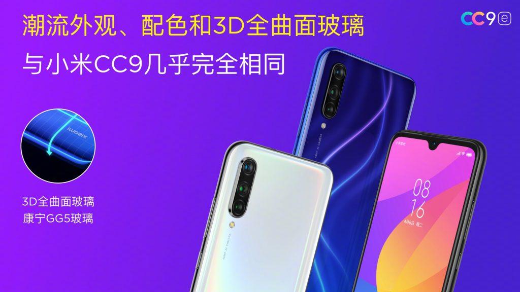Telefony Xiaomi CC9 a CC9e představeny