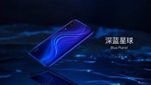 Xiaomi CC9 v modré barvě