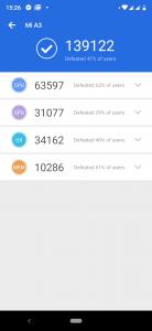 Xiaomi Mi A3 v benchmarku AnTuTu