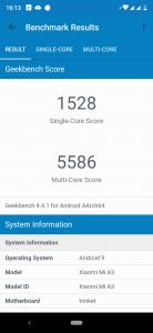 Xiaomi Mi A3 v benchmarku GeekBench 4