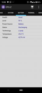 CPU-Z - baterie