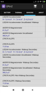 CPU-Z senzory