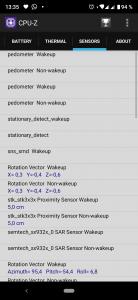 CPU-Z - senzory