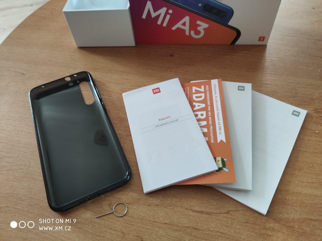 Obsah balení Xiaomi Mi A3