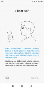 Odemykání obrazovky obličejem
