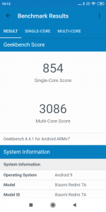 Redmi 7A v benchmarku GeekBench 4