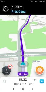 S navigací Waze nebyl žádný problém