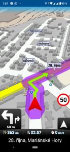 V MapFactor Navigatoru vše v pořádku