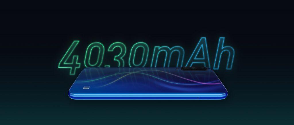 Xiaomi Mi A3 má baterii s kapacitou 4030 mAh