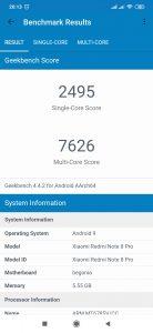 Redmi Note 8 Pro v benchmarku GeekBench 4