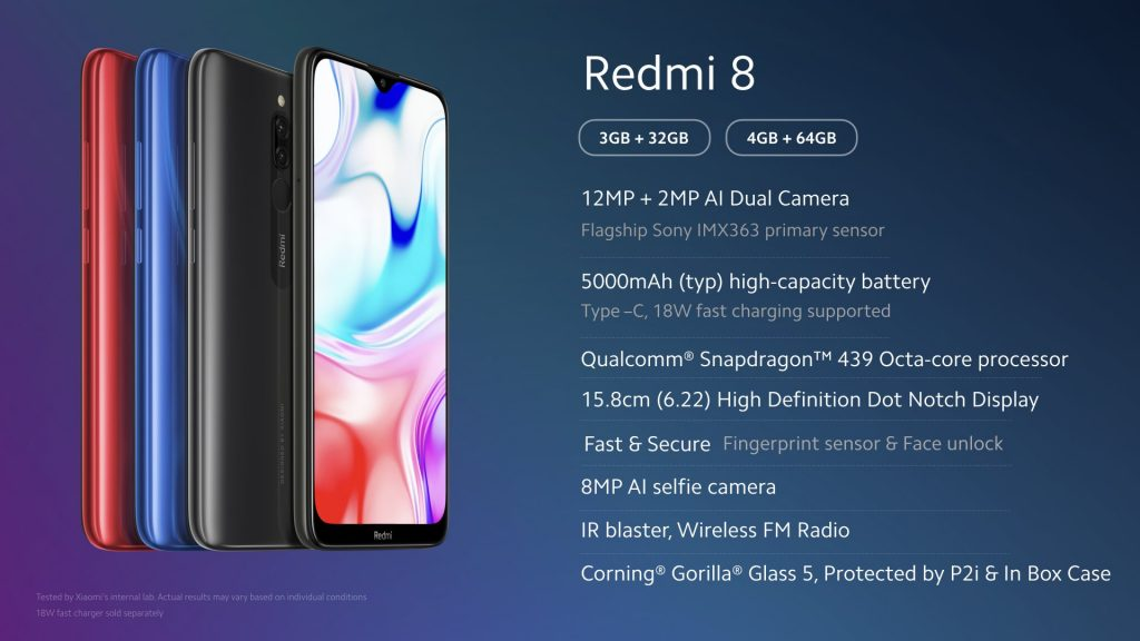 Technické parametry Redmi 8