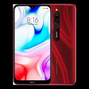 Telefon v červené barvě