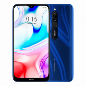 Telefon v modré barvě