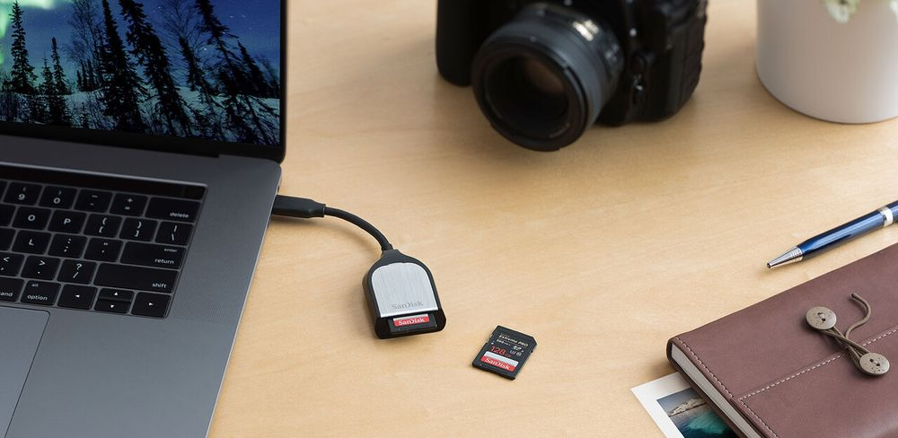 Čtečka paměťových karet SanDisk Extreme PRO typ C pro SD karty UHS-I a UHS-II