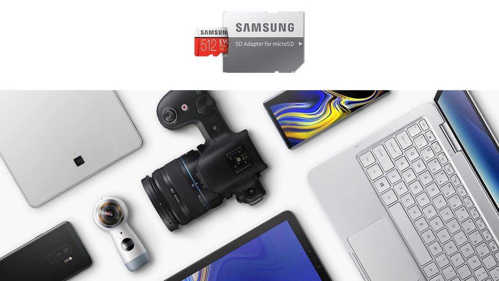Paměťová karta Samsung EVO Plus microSDXC + SD adaptér