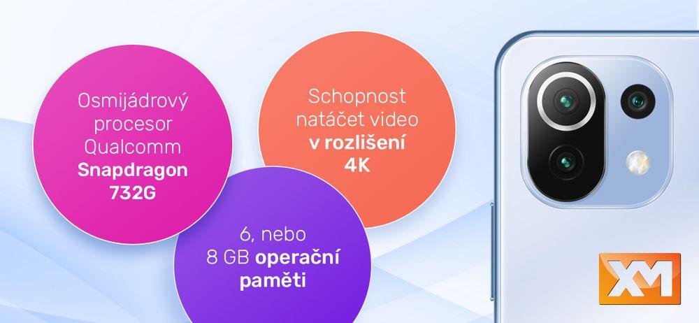 Chytrý telefon Xiaomi Mi 11 Lite