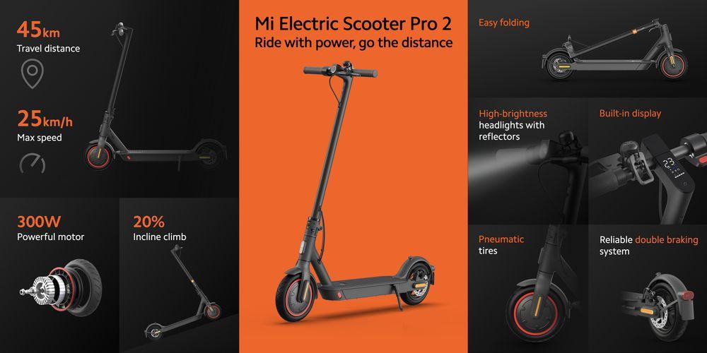Elektrická koloběžka Xiaomi Mi Electric Scooter Pro 2