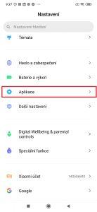 Přejděte do sekce Aplikace