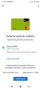 Ověření SMS zprávou