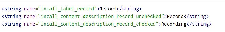Kód naznačuje, že bude možné nahrávat hovory