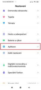 Pokračujte do sekce Aplikace