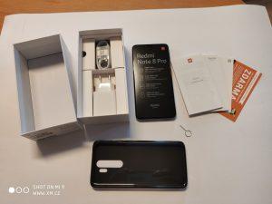 Kompletní obsah balení Redmi Note 8 Pro