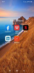 Předinstalované další aplikace