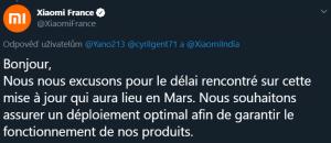 Xiaomi France slibuje aktualizaci v březnu