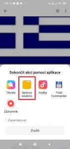 Zvolte aplikaci, s jejíž pomocí vyberete požadovaný vyzváněcí tón