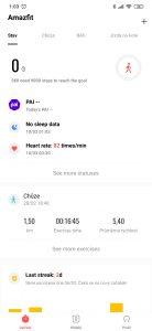 Xiaomi Huami Amazfit GTR aplikace