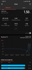 Xiaomi Huami Amazfit GTR záznam