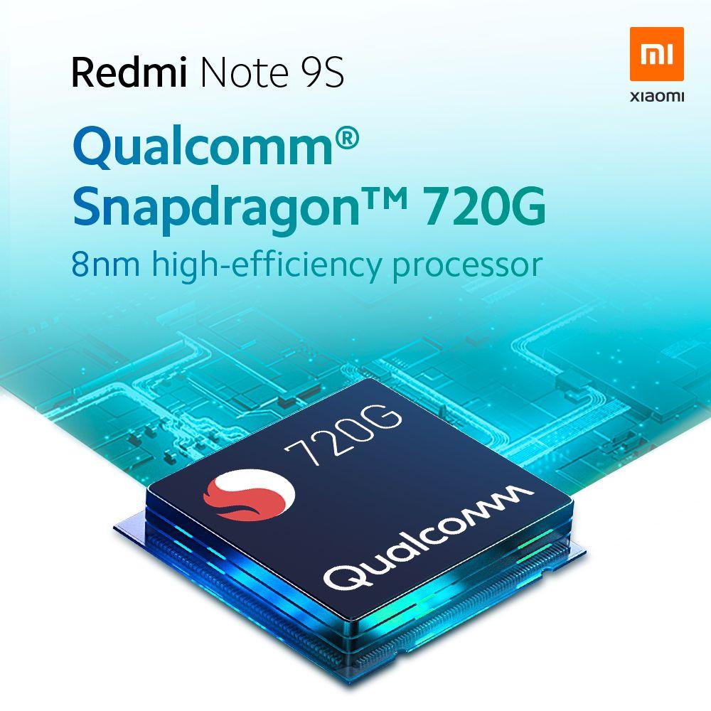 Srdcem Redmi Note 9S je Qualcomm Snapdragon 720G
