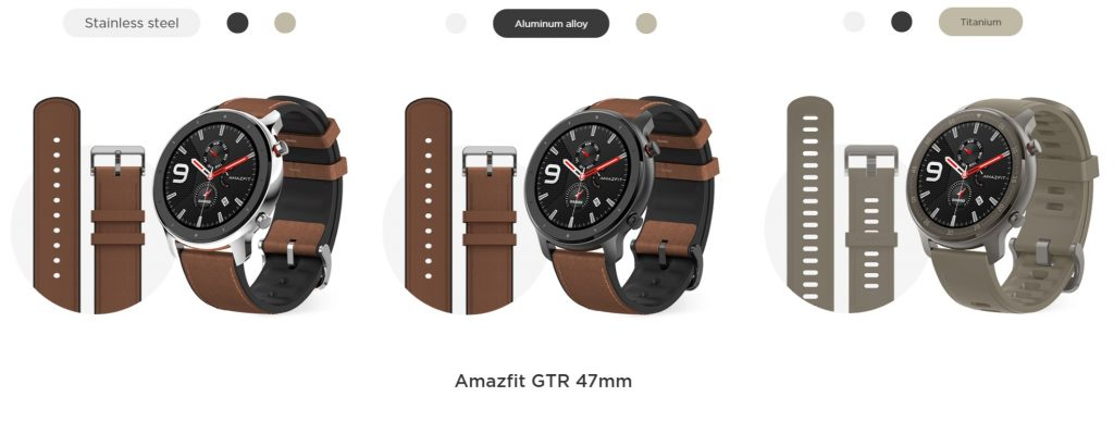 Xiaomi Huami Amazfit GTR verze