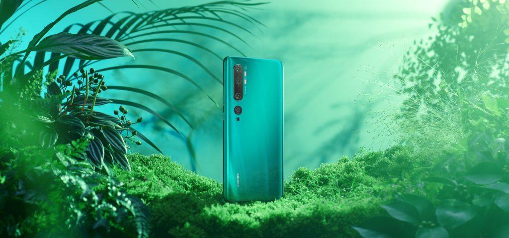 Xiaomi Mi Note 10 v zelené barvě