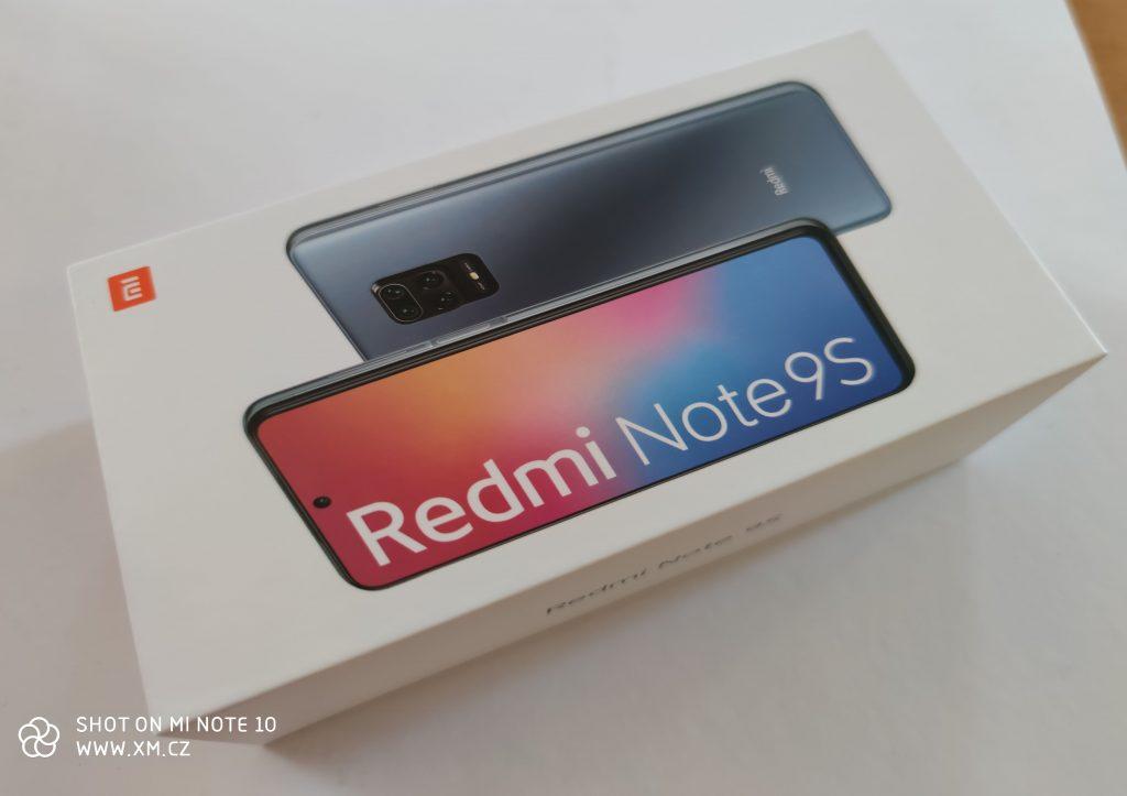 Redmi Note 9S dorazil v kartónové krabičce