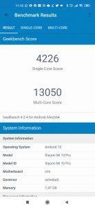 Xiaomi Mi 10 Pro v benchmarku GeekBench 4