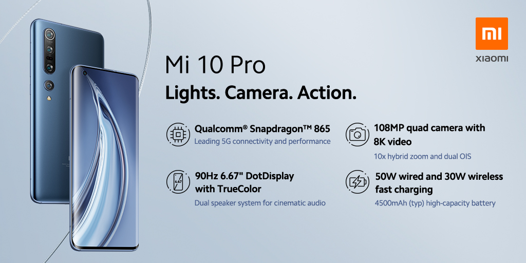 Hlavní taháky Xiaomi Mi 10 Pro