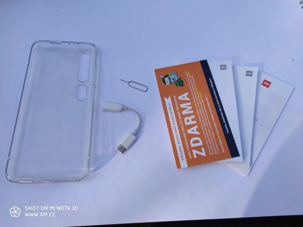 Obsah balení Xiaomi Mi 10 Pro